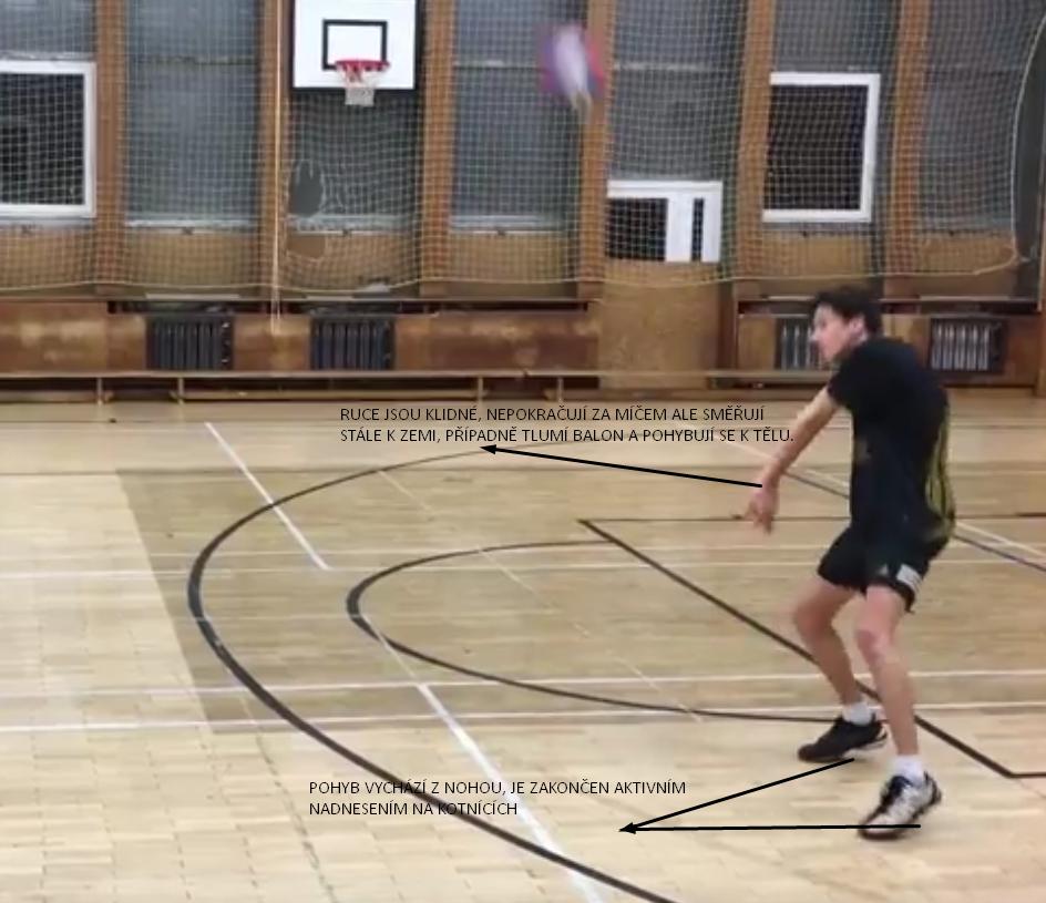 Technika příjmu po kontaktu z balonem